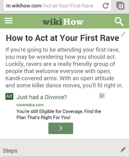 """How To Act At A Rave"""