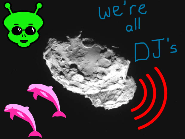 THE COMET IS A DJ! Listening To The Universe On Repeat