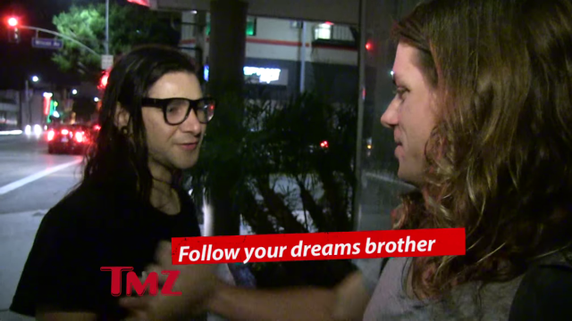 Skrillex Helps TMZ Talk About Their Dreams